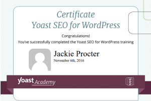 Yoast certification